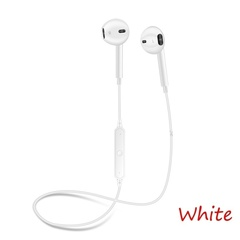 S6 Sports Type Bluetooth Wireless Stereo Sport Headset Earbuds Earphones white