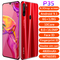 P35 6.3inch Android Smart Phone MTK6580 Chip Fingerprint Mobile Phone 6+128GB Memory 4G Mobile Phone red
