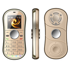 Fingertip Gyro Personality Creative Straight Decompression Dual Card Dual Standby Small Mobile Phone gold