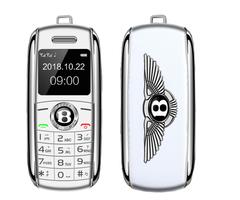 Mini Telephone Bluetooth Dialer Magic Voice Speed Dial Recorder Dual Sim Small Mobile Phone white
