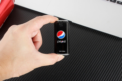K8 Bluetooth Dialer Mini Coke Appearance Straight Pocket Children's Student Dual Card Phone black