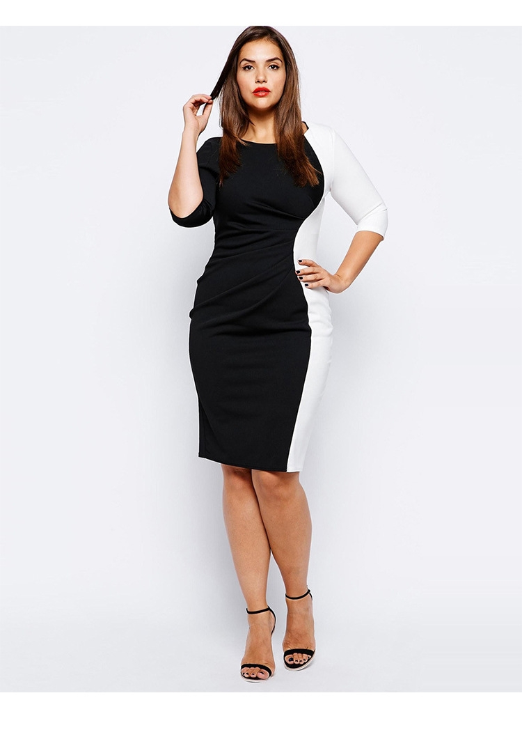 59391df442 New Women Summer Casual Office Lady Formal Party Evening Cocktail Midi Dress  black XXXL