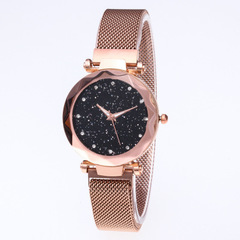 2018 Fashion Youth Wristwatches Magnet Band Sky Dial Quartz Watch Adjustable Watch Band 6Colors rose gold as picture