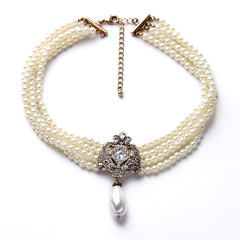 Fashion Necklace New Multi-layer Pearl Chain for Women Wedding Party Dress Accessories xl01578 white 21cm-50cm