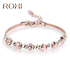 Fashion Jewelry Female Elegant Bracelet Two Color Rose Gold Bangle Lady Gifts 20603417425D rose gold one size