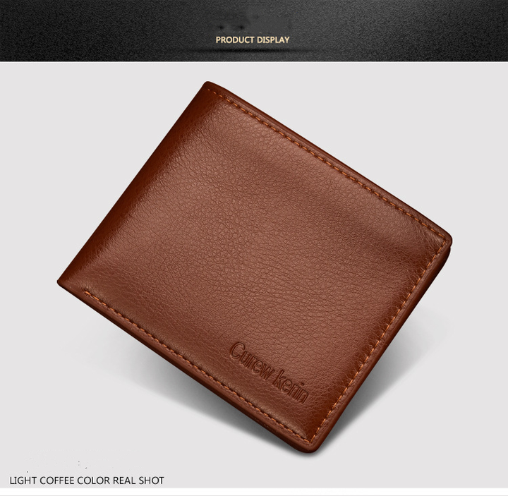 2090a2f94cb3 Men Wallets PU Leather Short Bifold Cash Card Wallet Male Business Purse  Card Holder Large Capacity