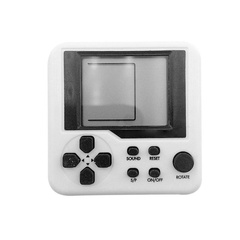 Ultra Small Mini Tetris Handheld Game Console Portable LCD Players Toy Educational Electronic Toys white one size