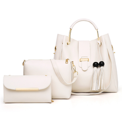 2018 new cross-body fashion handbag white one size