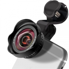 4 in 1 mobile lens with wide-angle macro fish eye shading optical focusing without distortion black 13.3 cm * 9.7 cm * 5.3 cm