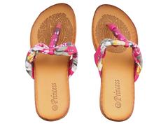 Pink Flowered Flip Flop/Sandals(SIze 39)