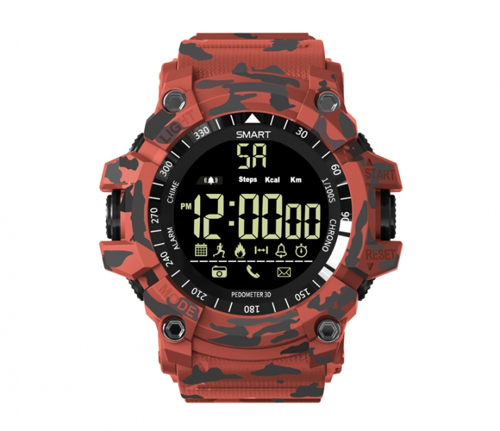 EX16 plus Smart Watch Men With SMS /Twitter/ Facebook/ Whatsapp/ Skype  Reminder Remote photography Camouflage red EX16 PLUS