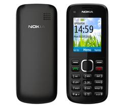 Refurbished phone Nokia C1-02 Music Unlocked Phone Bluetooth MP3 cell phone black