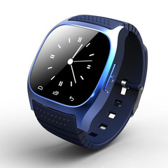 Wearable Smart Watch M26 SIM/TF Bluetooth Pedometer Multifunction Digital WristWatch for Android blue one size