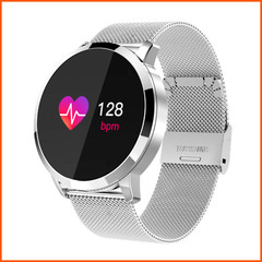 Q8 Wearable Smart Watch With bluetooth Call Phone Clock  waterproof Push Message For Android Phones silver one size
