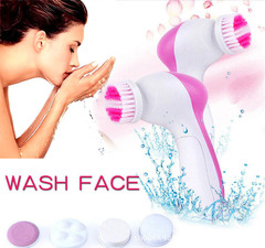 Spa Skin Care Massage Electric Face Facial Cleansing Brush Wash Your Face Household Beauty pink