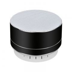Mini bluetooth speaker subwoofer wireless led stereo portable multifunctional FM black 3W S10
