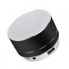 Mini bluetooth speaker subwoofer wireless led stereo portable multifunctional FM red 3W S10