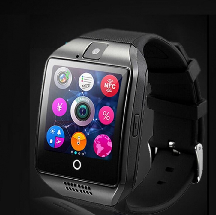 Q18 smart watch waterproof sports fashion bluetooth touch screen smart bracelet black one size