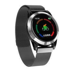 R15 smart watch fashion movement information reminder heart rate and blood pressure detector black ash one size