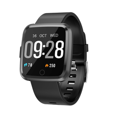 Y7 smart watch sports fashion waterproof calls to remind heart rate and blood pressure detector black one size