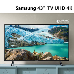 Samsung - UA43RU7100K 43 inches LED Flat Smart 4K UHD TV Series 7 Black 43