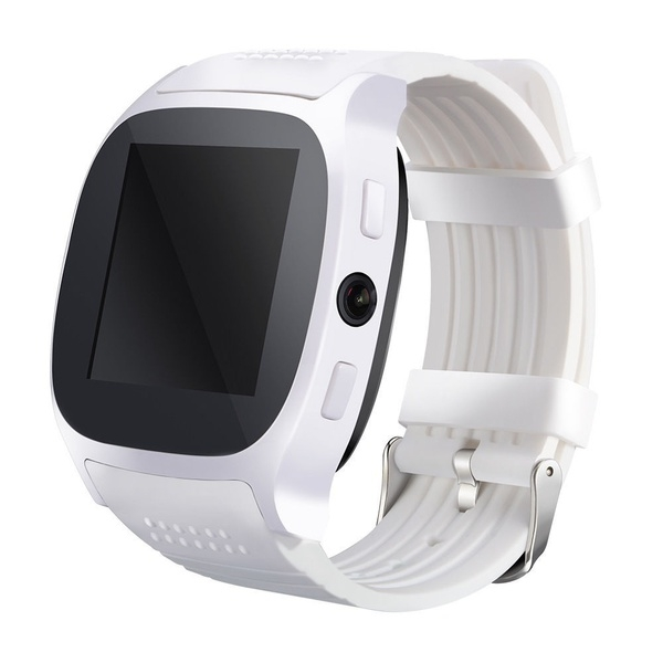 Bluetooth Smart Watch With Camera Music Facebook Sync Smartwatch Support  SIM TF Card for ios Android white one size