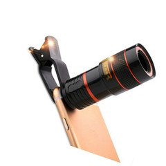 The Phone Lens Is 8/12 Times Long and Telephoto Lenses Are 8/12 Times Long Camera Lens black 8X