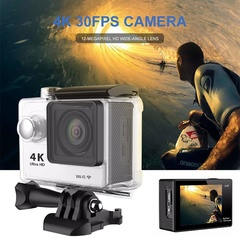2.0 Inch LCD Lens Waterproof Sport 4K DV Outdoor Action Camera Diving Wireless Digital Cam white one size