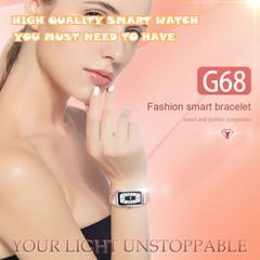 Fashion G68 Smart Watch Heart Rate Fitness Tracker Calorie Women Intelligent Smart Bracelet purple one size