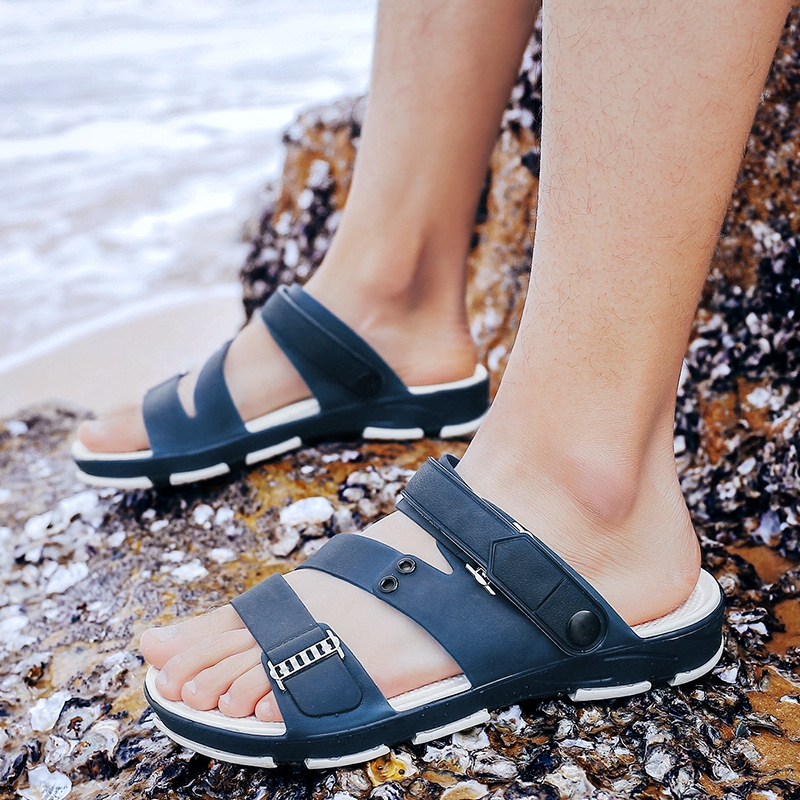 eb470197e04e2e Fashion Man Beach Sandals 2018 Summer Men s Outdoor Shoes Roman Men ...