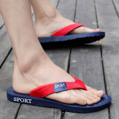 2018 Summer slippers men home slippers Fashion  beach slippers men Outdoor leisure slippers sandals blue 42