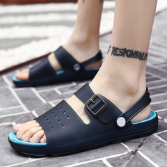 2019 summer men's sandals men's beach shoes open toe outdoor non-slip casual sports sandals blue 40