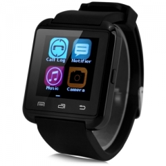 U8 Smartwatch Bluetooth Watch Passometer Touch Screen Answer and Dial the Phone Black One Size BLACK ONE SIZE