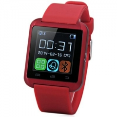 U8 Smartwatch Bluetooth Watch Passometer Touch Screen Answer and Dial the Phone Black One Size RED ONE SIZE