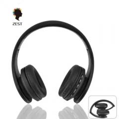 2est Over-ear Bluetooth Headphones  Foldable Wireless Bluetooth Stereo Headset black