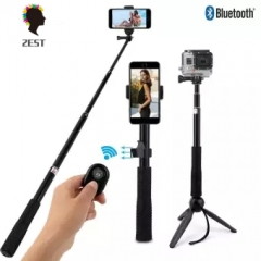 2est Selfie Tripod Extendable  Bluetooth Remote Phone Holder Clip Handheld  Remote Control black one size