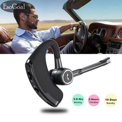 2est Business Bluetooth Headset Wireless Bluetooth 4.1 Earbuds Headphones with Noise Reduction black