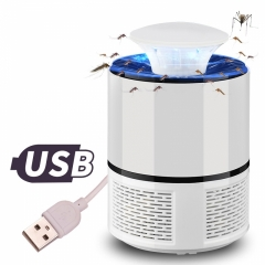 USB LED UV Electric Mosquito Trap Zapper Killer Light Mute Luring Lam white 19*13cm 5w