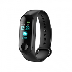 High Tech M3 PLUS Smart Band Long Standby Time Sports Multifunction Watch black one size