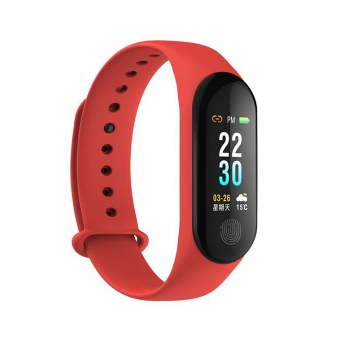 High Tech M3 PLUS Smart Band Long Standby Time Sports Multifunction Watch red one size