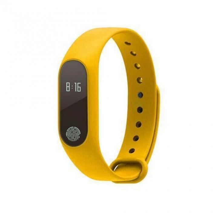 2est M2 Smart Bracelet Smart watchHeart Rate Monitor Bluetooth Smartband Health Fitness Tracker yellow one size