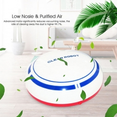 2EST Automatic Rechargeable Cleaning Robot Smart Sweeping Robot Vacuum Cleaner white USB