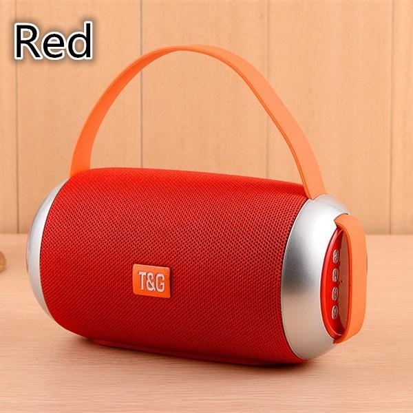 2EST TG112 Portable Outdoor Portable subwoofer Bluetooth Wireless Speaker speakers red one size