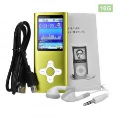 OR 1.8 Inch Metal MP4 Player Built-in  Internal Memory Video Raido speakers gold