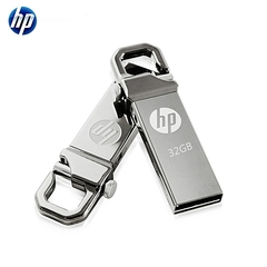 HP V250W USB Flash Drive 16GB 32GB Metal Waterproof flashdisk flash disk sliver hp 64gb