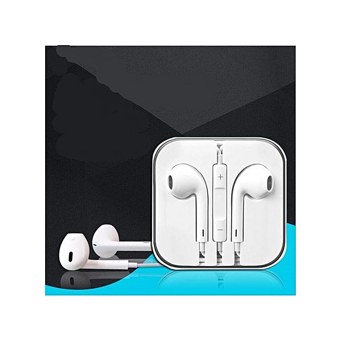 Earpiece In-Ear Headphone Headset Wired Stereo With Volume Control,True Copper Ring For IPhone white