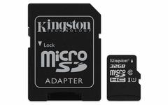 Kingston  32 GB microSDHC Class 10 microSD Memory Card UHS-I 80MB/s R Flash Memory Card with Adapter as shown kingston 32gb 80mb/s