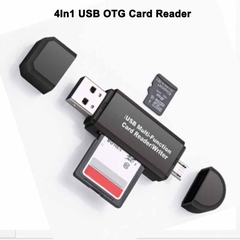 4In1 USB OTG Card Reader Flash Drive High-speed USB Universal TF/SD for Phone Computer Memory Cards as shown OTG Smart High speed