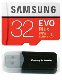 Samsung Galaxy S9 Memory Card 32GB Micro SDHC EVO Plus Class 10 with a card reader as shown samsung 32gb 95mb/s
