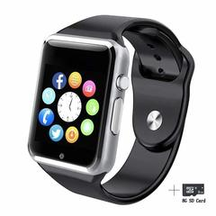 2EST Smart Watches Bluetooth Smart Watch Fitzladd A1 Touch Screen  Watch Phone with SIM Card sliver normal size